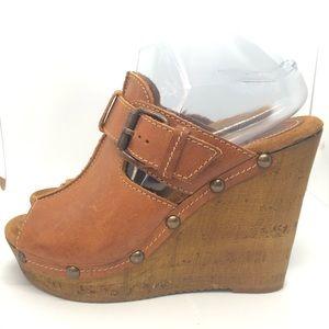 Sbicca Vintage Collection Platform Wedge Leather